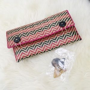 NEW Handmade Woven Clutch + FREE Africa Keychain